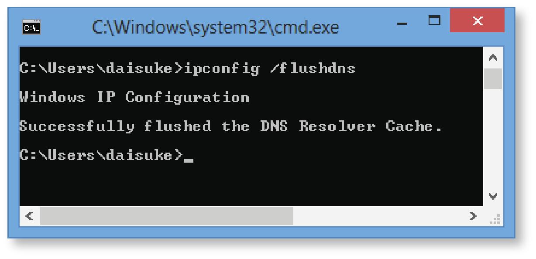 DNSのリセット